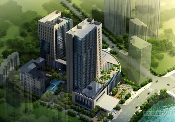 [贵州]现代风格五星级商务酒店建筑设计方案文本
