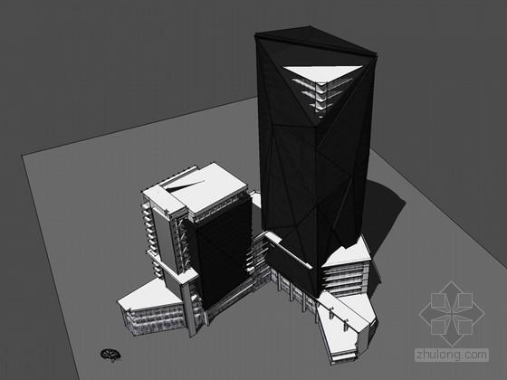 时尚大气建筑SketchUp模型下载