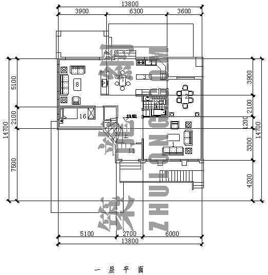 别墅户型平立面图2