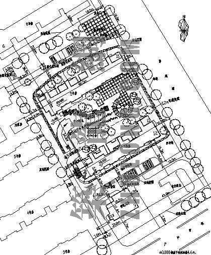 某生活小区中心规划图
