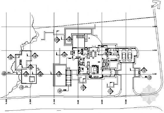 别墅庭院景观施工图
