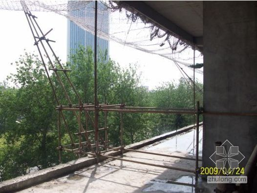天津某高层脚手架施工方案(海河杯 落地式 型钢悬挑 钢管悬挑)