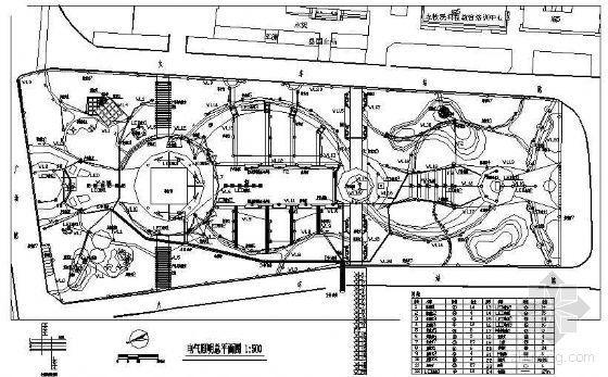 某火车站站前广场景观照明施工图