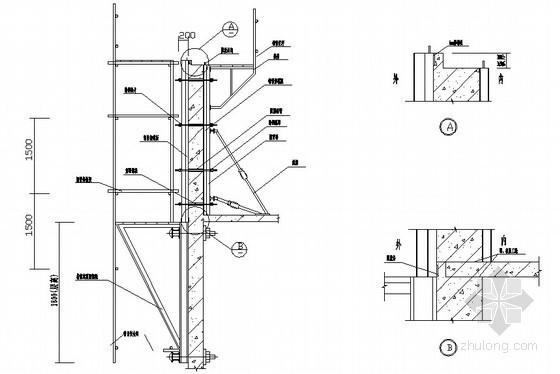 外挂架组合钢模板支设示意图