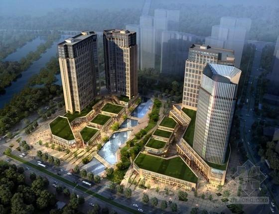 [江苏]高层现代风格多功能开放性商业建筑设计方案文本