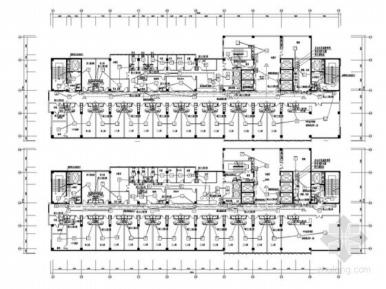 [重庆]大型综合医院全套电气施工图185张(99.9米 弱电全面)