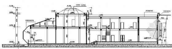 某二层售楼处建筑方案图-2