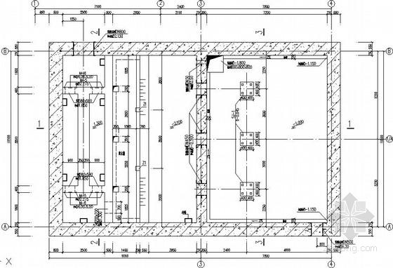 污水站框架沉井悬挑支承结构图(含手算计算书)