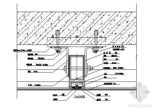 隐框幕墙竖向安装节点详图