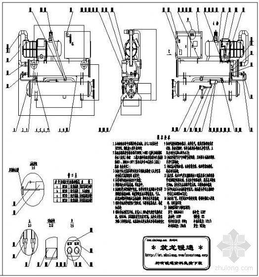 单机头螺杆机组大样图