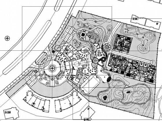 [沈阳]文化商业区园林景观铺装工程施工图