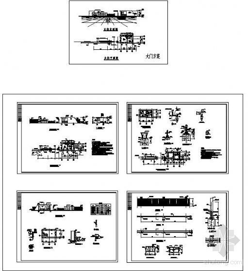 某公司小区大门及围墙方案图
