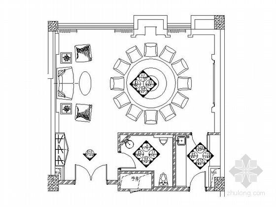 [安徽]国际酒店A型包房装修图(含效果)