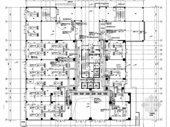 [上海]高层酒店式公寓空调通风及防排烟系统设计施工图(节能设计)