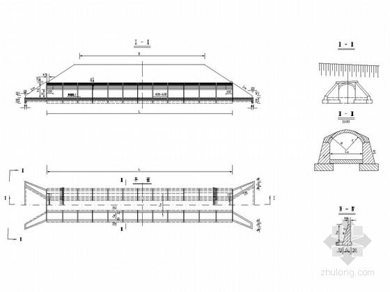 一般型式桥梁与多样式涵洞设计图