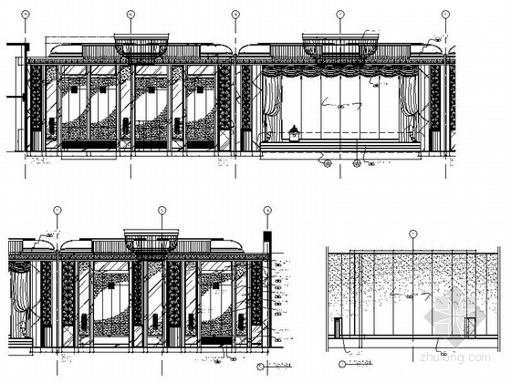 [广东]全球连锁尊贵五星级国际豪华酒店设计装修施工图大宴会厅立面图