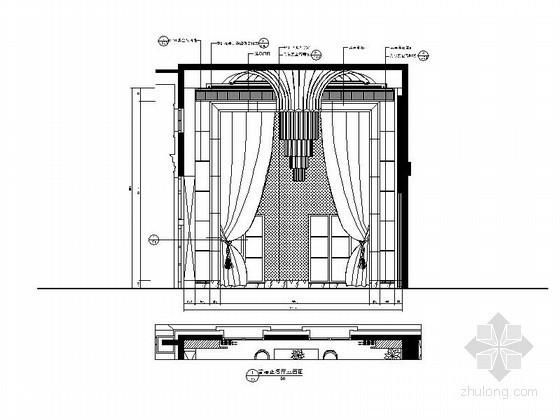 别墅正餐厅立面图