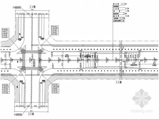 [广东]城市主干道道路工程全套施工图设计48页(含交通组织)