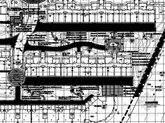 [桐乡]居住区临街组团绿地景观工程施工图