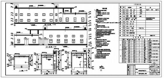 某城市污水处理厂鼓风机房及制冷机房建筑结构图