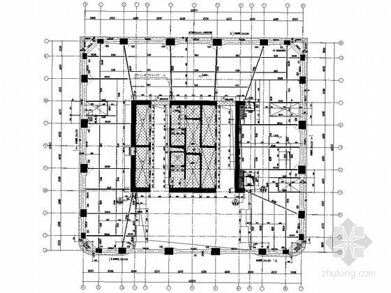 40层钢骨框架+钢筋混凝土核心筒框架-核心筒结构双子塔楼结构施工图