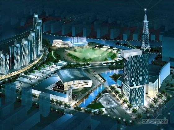 单体建筑酒店设计资料下载-[江苏]现代风格著名文化广场规划及单体建筑设计方案文本(含多媒体)