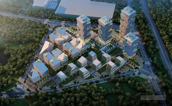 [重庆]现代风格办公地块规划及单体建筑设计方案文本