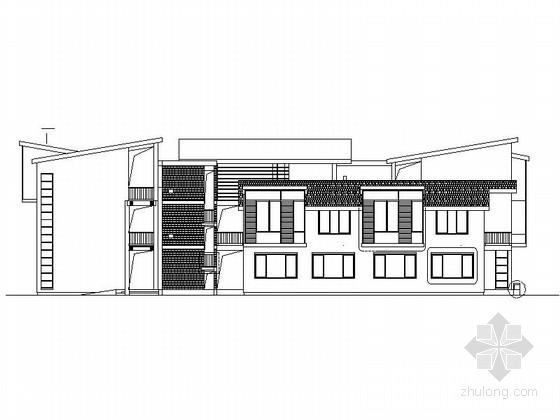 [浙江]3层现代风格重点中学教学楼建筑方案图
