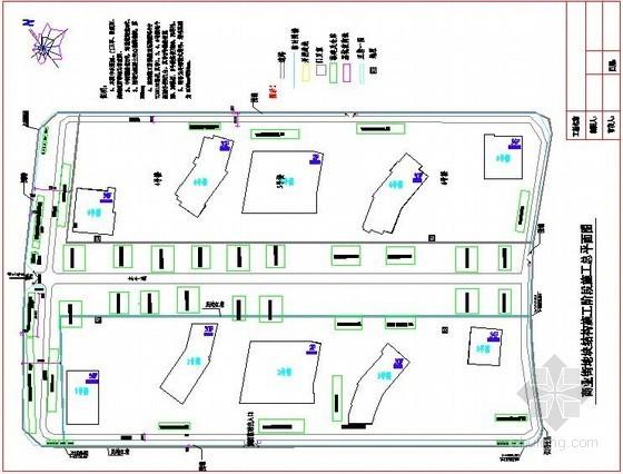 [海南]商业楼项目施工现场平面布置图(总平面图 临水 临电)