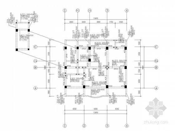 五层框架私人住宅结构施工图
