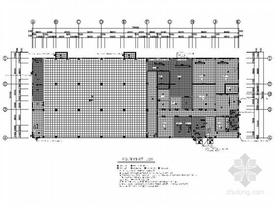 [山东]橡胶行业现代风格生态厂房室内装修施工图(含效果)