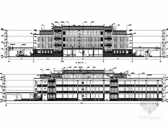 [湖南]30班三层中心小学教学楼建筑结构全套图