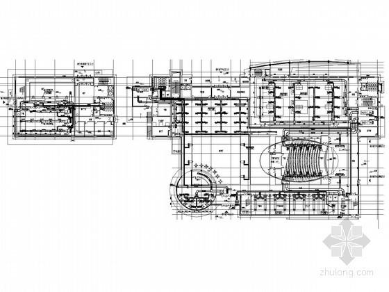 [上海]某活动中心地源热泵系统设计施工图(含机房)