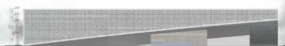 [安徽]六层徽派意蕴立方形体综合档案馆建筑设计方案文本-六层徽派意蕴立方形体综合档案馆建筑立面图