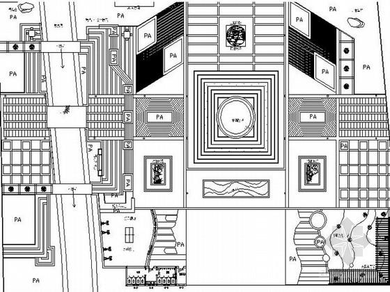 [陕西]全套大众民俗文化娱乐活力活力广场景观设计施工图