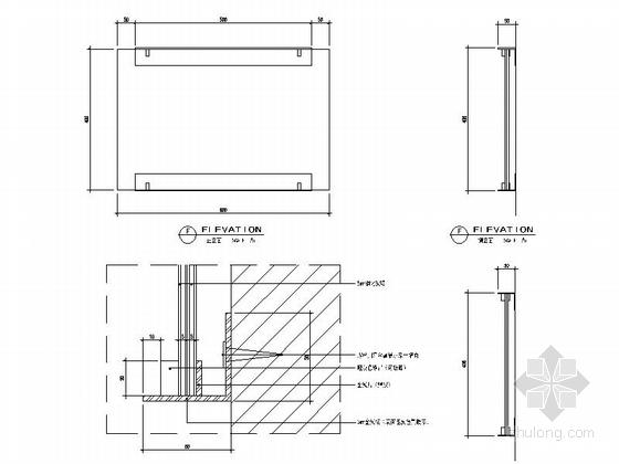 [上海]开发新区现代陈列馆室内装饰设计施工图详图