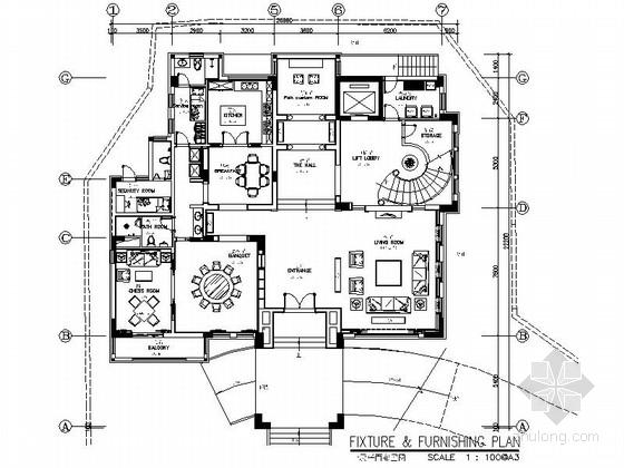 [原创]复古大气欧式设计风格三层别墅室内施工图