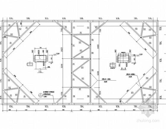 深基坑钢筋混凝土内支撑支护及水泥搅拌桩止水帷幕施工图