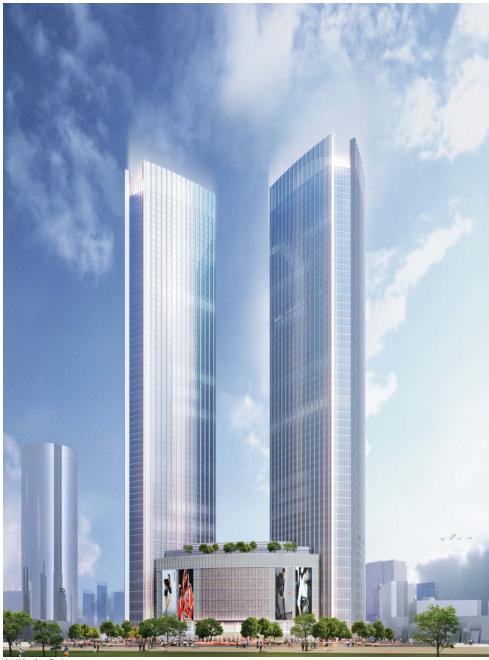 [浙江]超高层个中央国际广场CAD及方案设计全套图纸_3