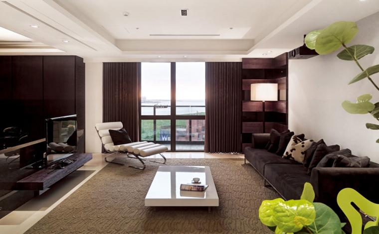 210平现代简约知性人文寓所室内设计实景图