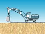反铲挖土流程施工演示