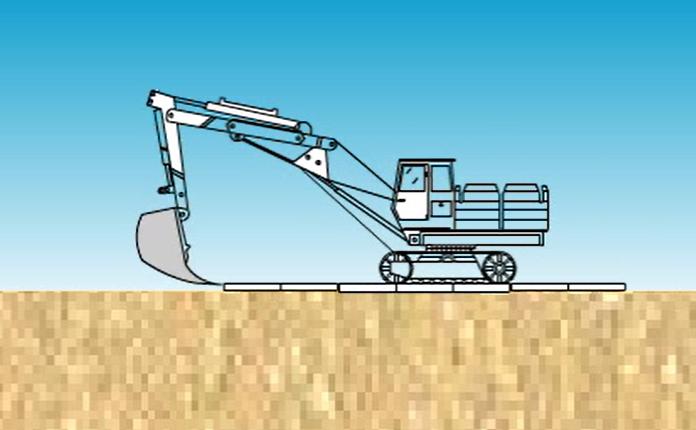 反铲挖土流程施工演示_1