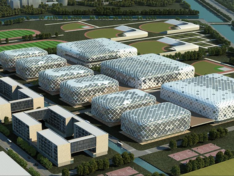 [上海]崇明体育训练基地规划运动馆群设计方案文本(JPG)