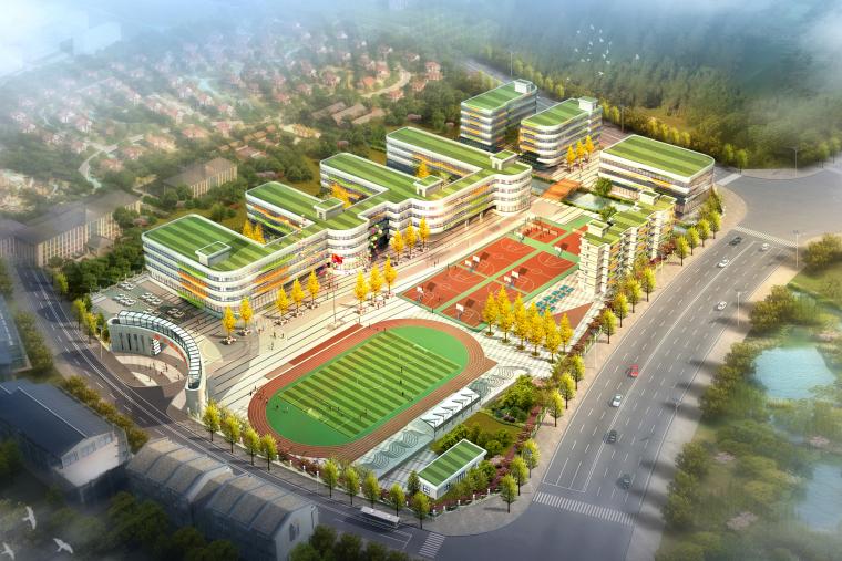 [贵州]现代风格40班全日制小学校园总规划及单体设计方案文本