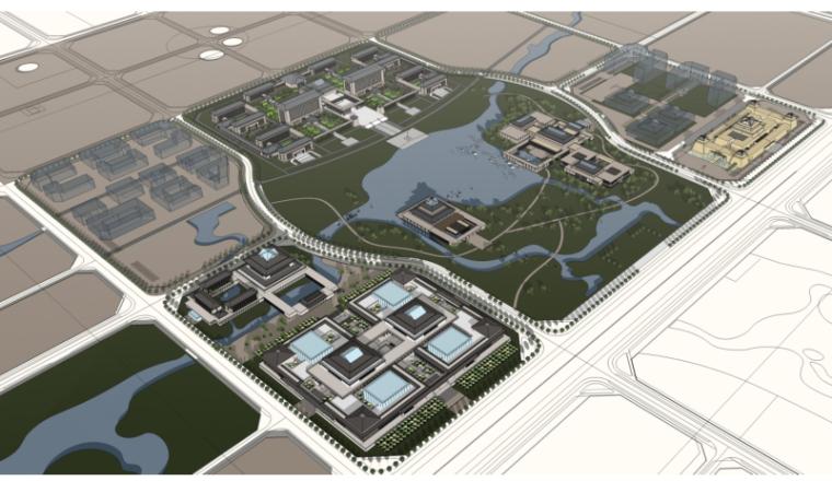 开封新区中意商务区城市设计汇报三套方案(中建西北院)