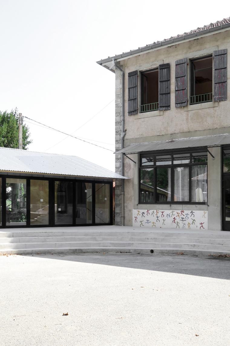 法国简洁木结构的学校食堂扩建-6