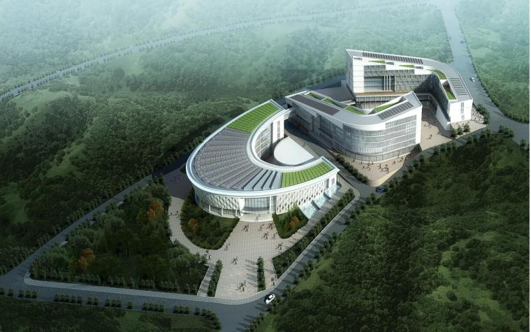 某海东新区规划展览馆办公楼建筑方案设计文本(JPG)