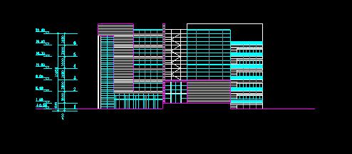 风格现代公园深圳中心区v风格高层建筑设计(深双轨制绘制图图片