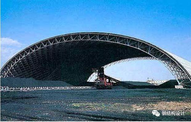 大唐西固110m、122m 跨干煤棚钢网架设计