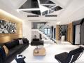 华润仰山别墅装修设计,黑白时尚带来的经典现代风!